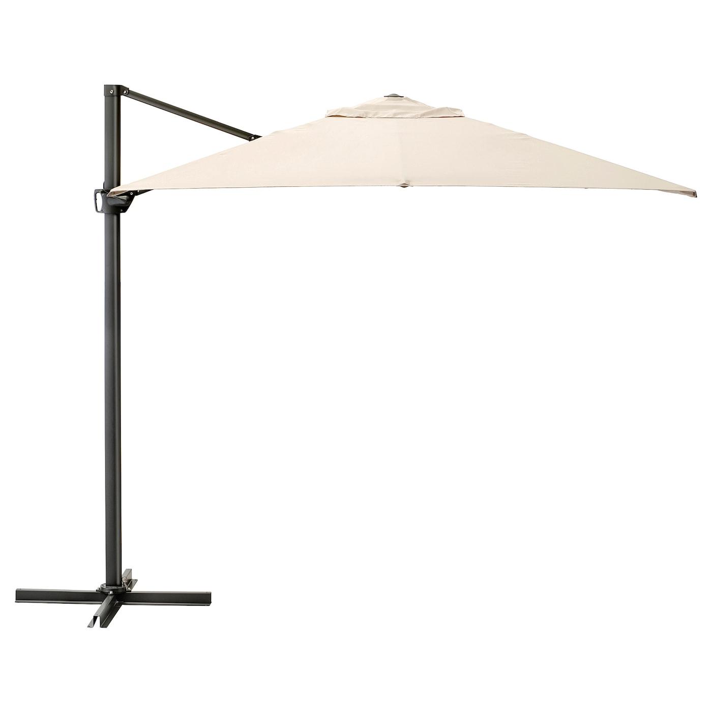 Seglarö Parasol Déporté - Beige/Inclinable 330X240 Cm dedans Toile Pour Tonnelle 3X3 Ikea