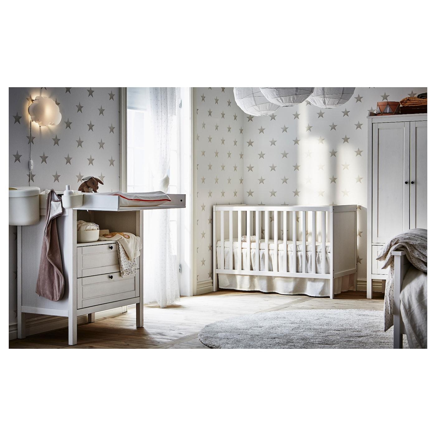 Sundvik Lit Bébé - Blanc 60X120 Cm concernant Rideaux Chambre Bébé Ikea