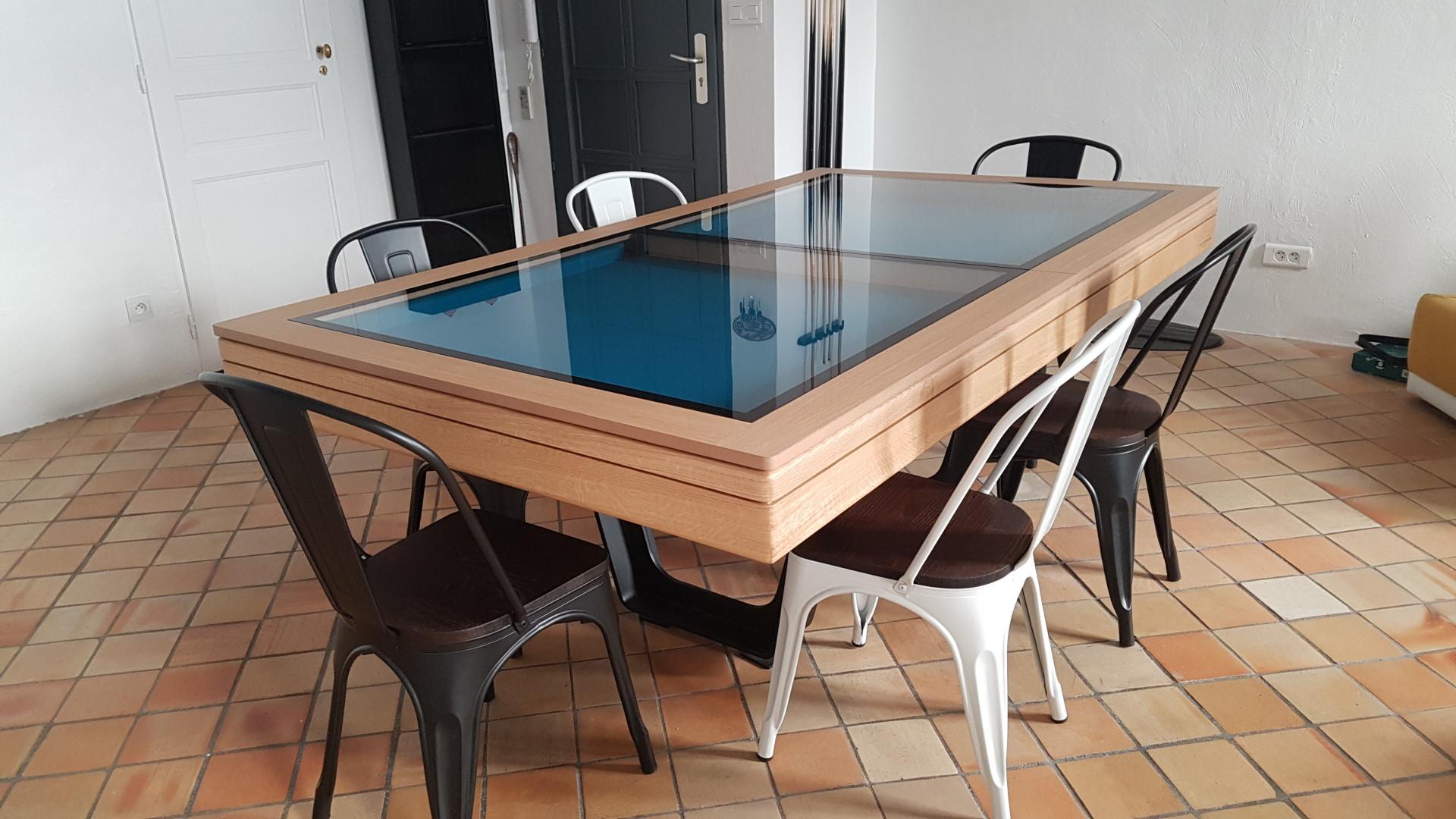 Table De Billard Convertible En Table À Manger | Billards Breton tout Billard Table À Manger Avec Rallonge