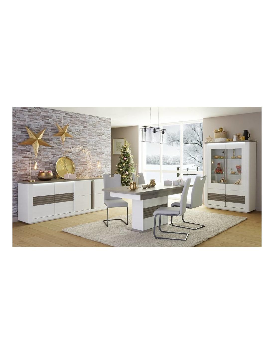 Table L180+ All Vertigo Blanc/Chêne Gris - Table But tout Salle À Manger Vertigo