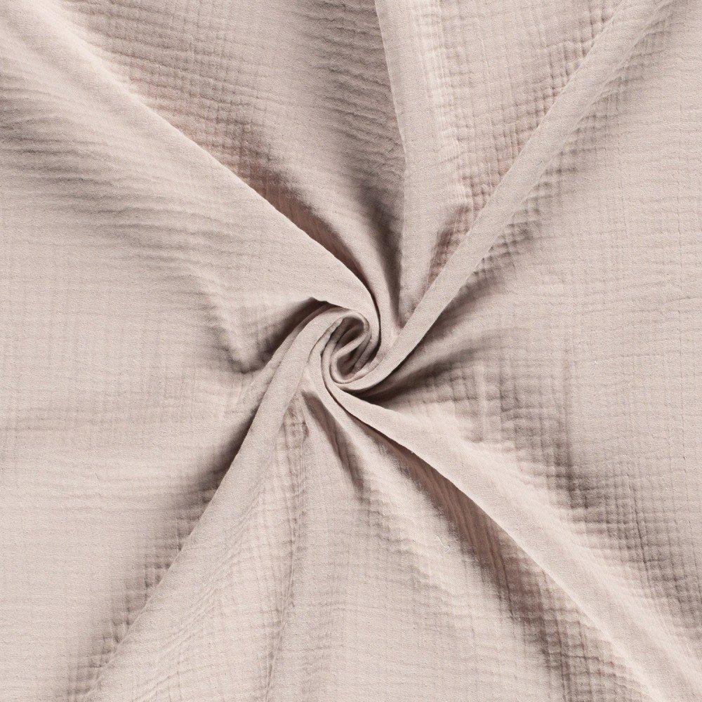 Tissu Triple Gaze De Coton Beige Sable - Par 10 Cm tout Triple Gaze De Coton Grande Largeur