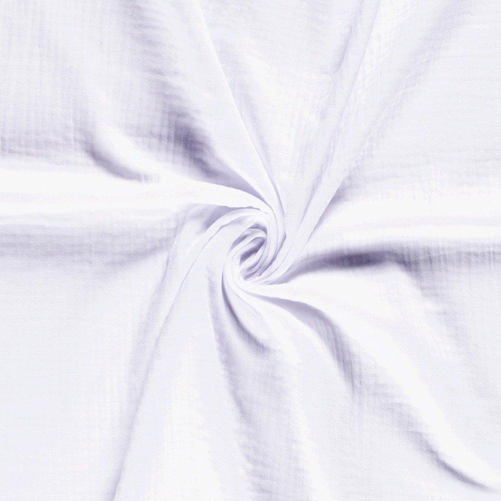 Tissu Triple Gaze De Coton Blanc - Par 10 Cm destiné Triple Gaze De Coton Grande Largeur