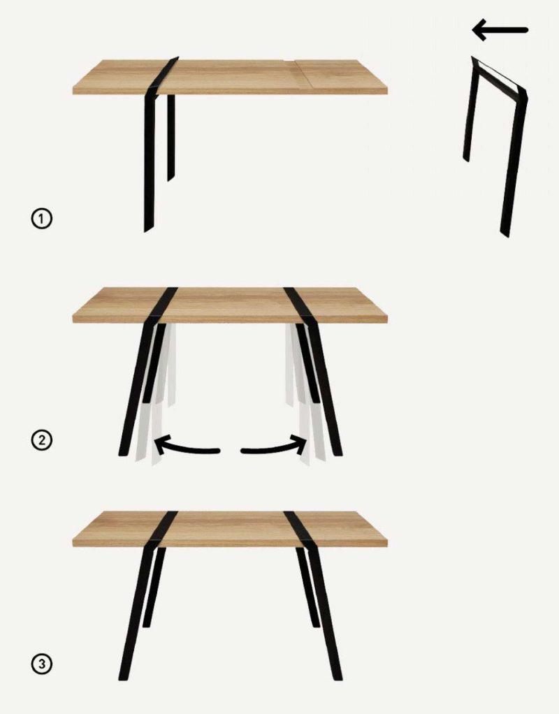 Tréteaux : 39 Idées Déco Pour Créer Une Table Ou Un Bureau intérieur Pied Pliant Pour Table Leroy Merlin