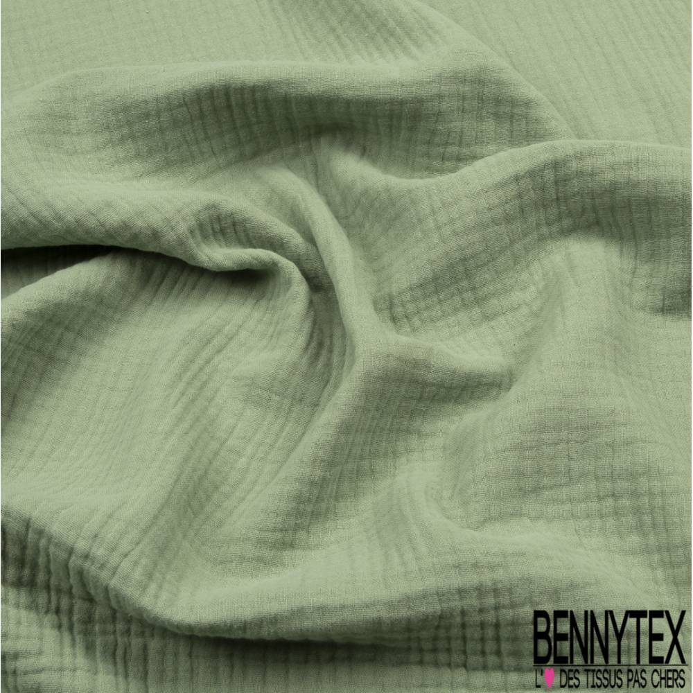 Triple Gaze De Coton Amande   Bennytex Vente De Tissus Pas dedans Triple Gaze De Coton Grande Largeur