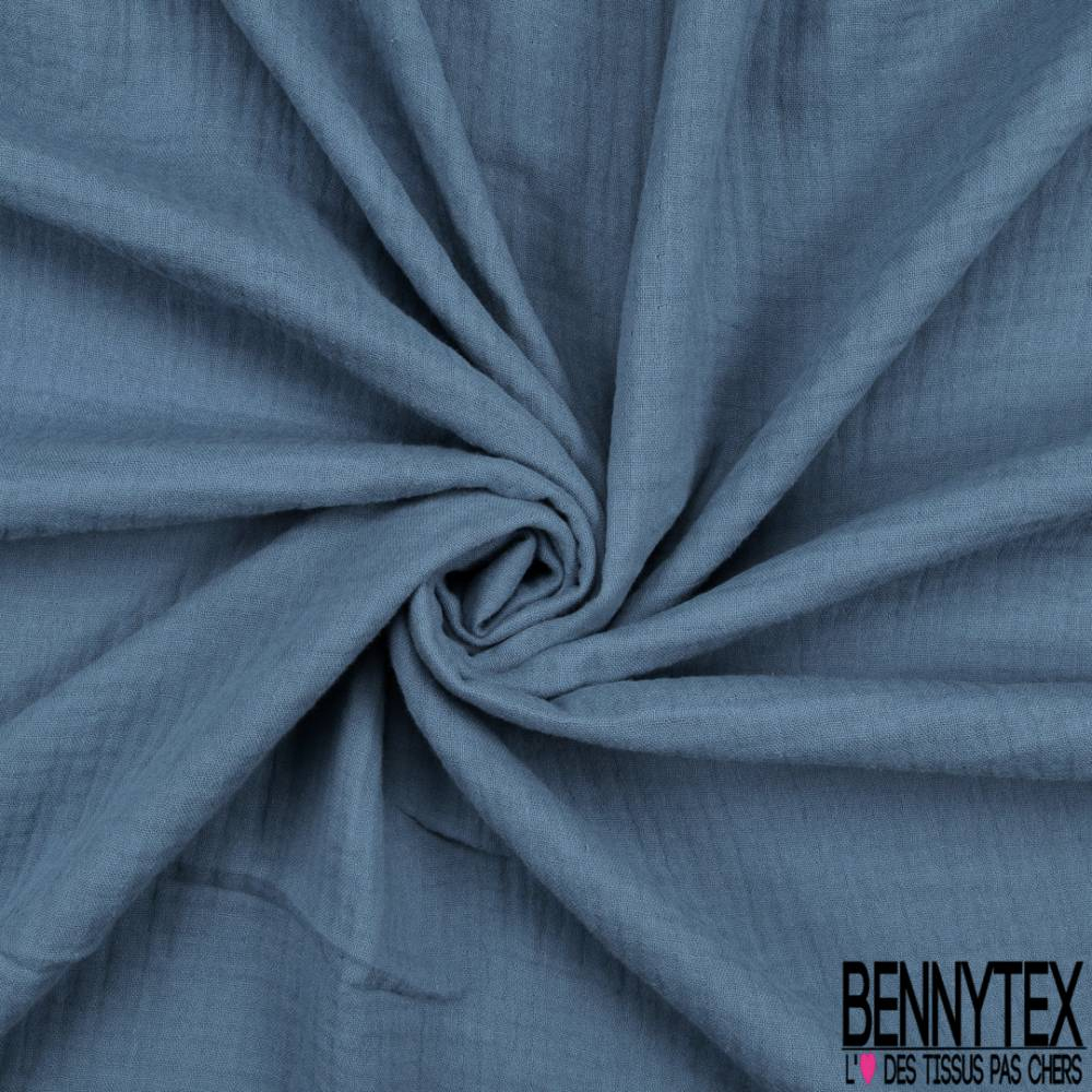 Triple Gaze De Coton Indigo   Bennytex Vente De Tissus Pas intérieur Triple Gaze De Coton Grande Largeur