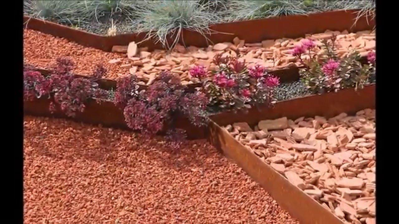 Tuto: Posez Vos Bordures De Jardin Souples Acier Corten Acier Galva Et Alu  - Apanages à Bordure Acier Galvanisé Castorama