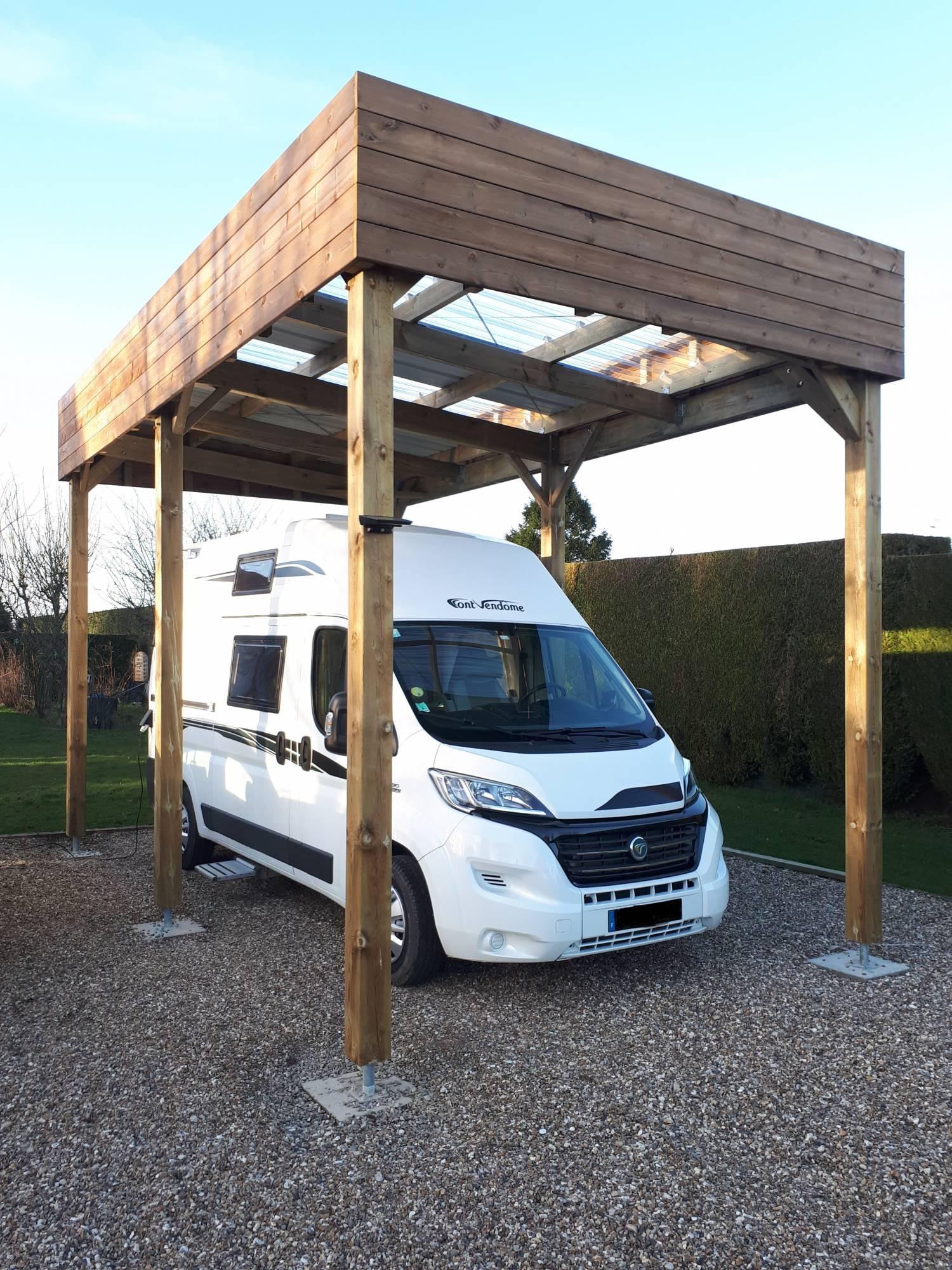 Installation De Carport Pour Camping-Car En Normandie Proche concernant Abri Camping Car Leroy Merlin